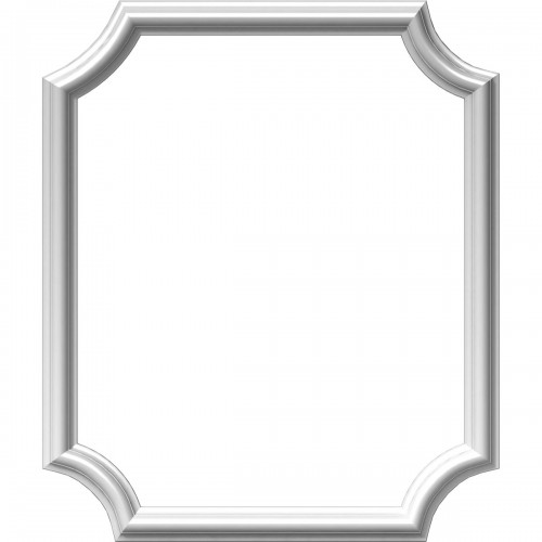 "20""W x 24""H x 1/2""P Ashford Molded Scalloped Picture Frame Panel"