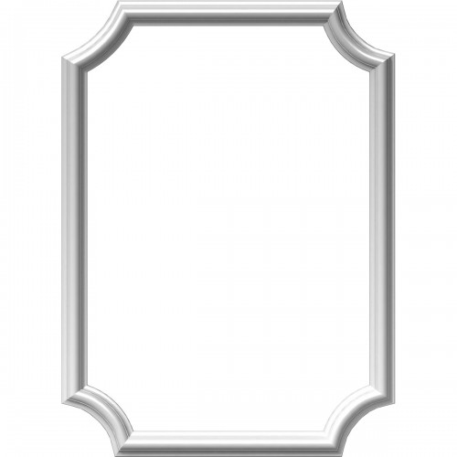 "20""W x 28""H x 1/2""P Ashford Molded Scalloped Picture Frame Panel"