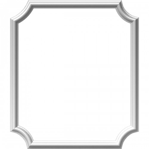"""24""""W x 28""""H x 1/2""""P Ashford Molded Scalloped Picture Frame Panel"""