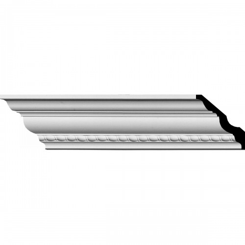 """3""""H x 3""""P x 4 1/4""""F x 94 1/2""""L Crendon Bead and Barrel Crown Moulding"""