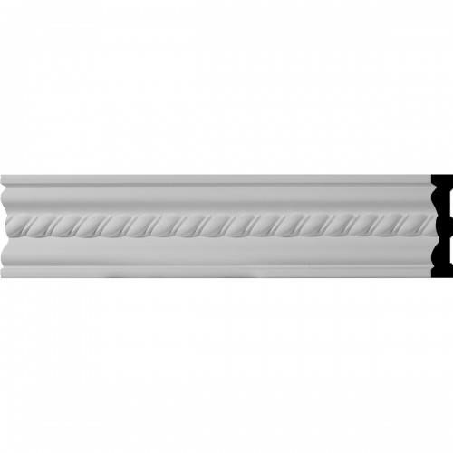 """4""""H x 3/4""""P x 96""""L Oslo Rope Chair Rail or Casing Moulding"""