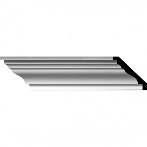 """4""""H x 4 5/8""""P x 6 1/8""""F x 110 1/4""""L Classic Smooth Crown Moulding"""