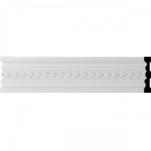 """5""""H x 7/8""""P x 96""""L Orleans Rope Chair Rail or Casing Moulding"""
