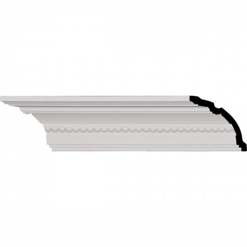 "4""H x 3 3/4""P x 5 3/8""F x 96 1/8""L, (5/8"" Repeat), Valeriano Crown Moulding"