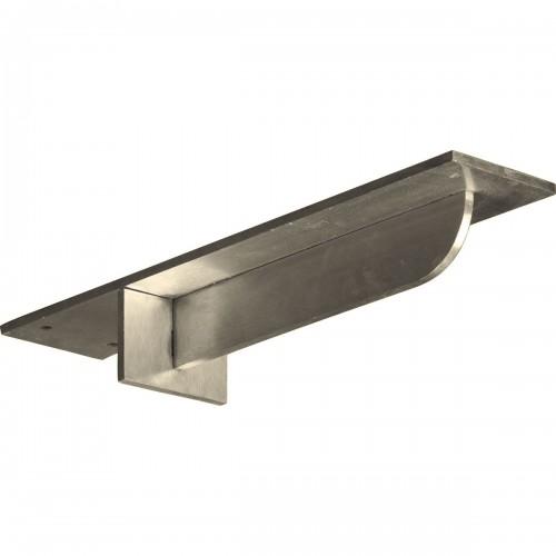 3W x 14D Heaton Hidden Support Bracket with 10 Support Depth Stainless Steel