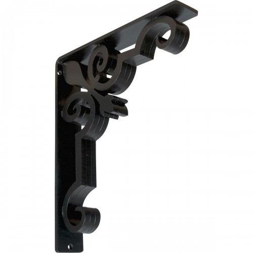 "2""W  x 10""D x 12""H Emery Triple, Wrought Iron Bracket, (Triple center brace)"