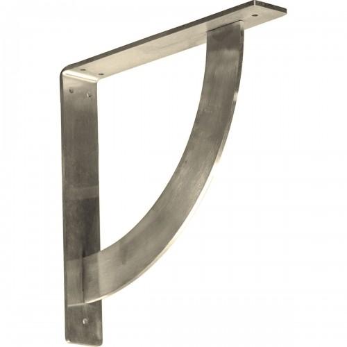 """2""""W x 12""""D x 12""""H Bulwark Bracket, Stainless Steel"""