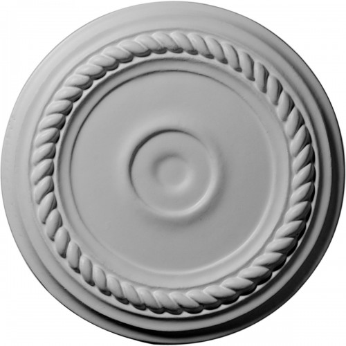 "7 7/8""OD x 1 1/8""ID x 3/4""P Small Alexandria Ceiling Medallion (Fits Canopies up to 1 7/8"")"