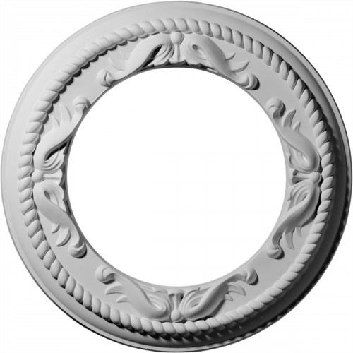 "12 1/4""OD x 7 1/2""ID x 7/8""P Roped Medway Ceiling Medallion"