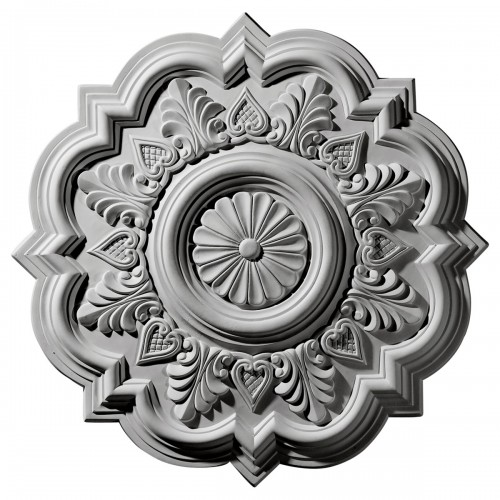 """20 1/4""""OD x 5""""ID x 1 1/2""""P Deria Ceiling Medallion"""