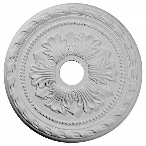 "20 7/8""OD x 3 5/8""ID x 1 5/8""P Palmetto Ceiling Medallion (Fits Canopies up to 5"")"