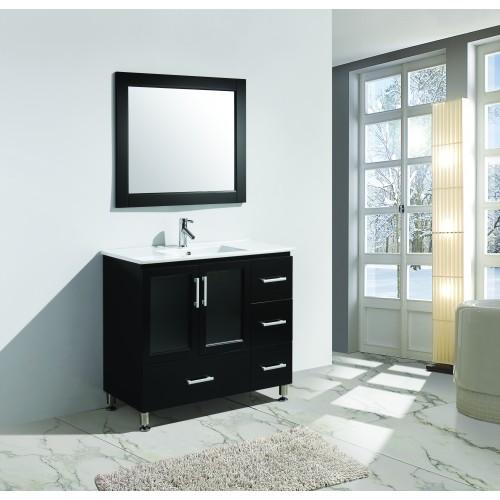 "Stanton 40"" Single Sink Vanity Set in Espresso Finish"