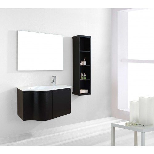 "Roselle 36"" Single Bathroom Vanity Cabinet Set in Espresso"
