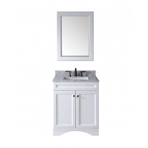 """Talisa 30"""" Single Bathroom Vanity Cabinet Set in White"""