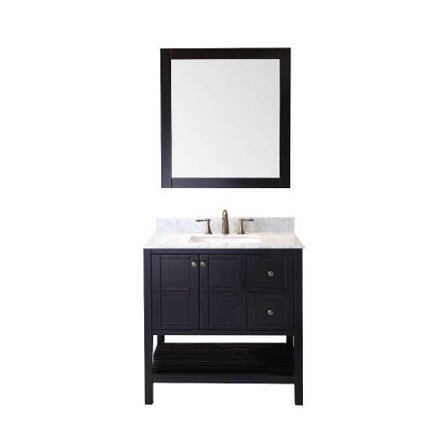 "Winterfell 36"" Single Bathroom Vanity Cabinet Set in Espresso"