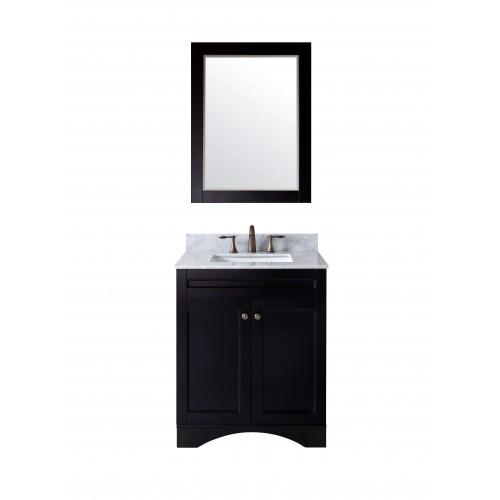 "Elise 30"" Single Bathroom Vanity Cabinet Set in Espresso"