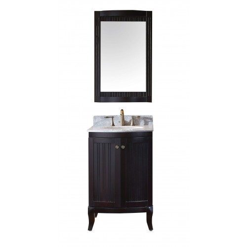 "Khaleesi 24"" Single Bathroom Vanity Cabinet Set in Espresso"