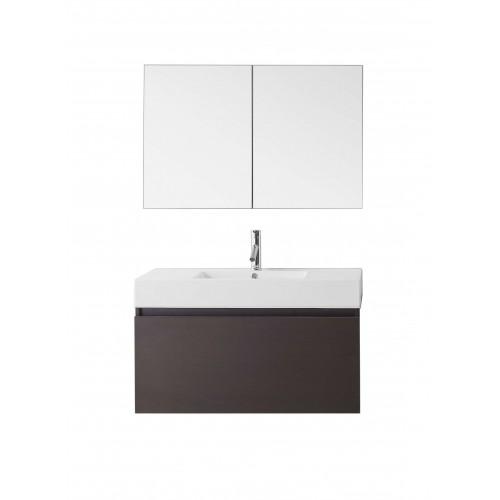 "Zuri 39"" Single Bathroom Vanity Cabinet Set in Wenge"