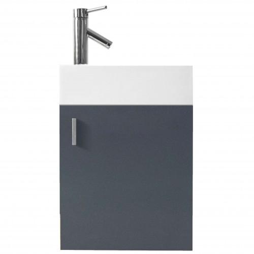 "Carino 16"" Single Bathroom Vanity Cabinet Set in Grey"