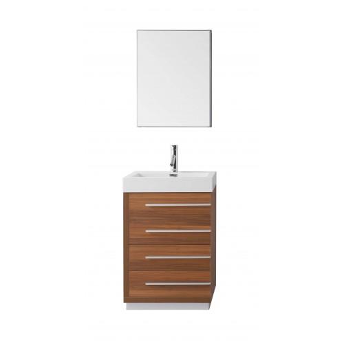 "Bailey 24"" Single Bathroom Vanity Cabinet Set in Plum"