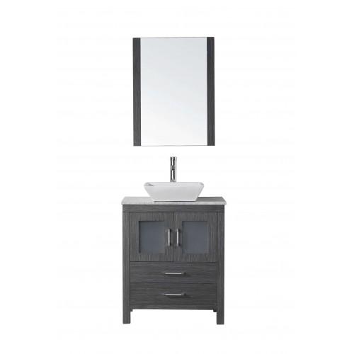 "Dior 24"" Single Bathroom Vanity Cabinet Set in Zebra Grey"
