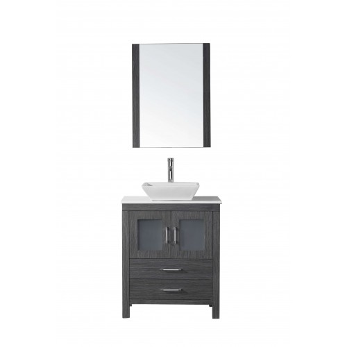 "Dior 28"" Single Bathroom Vanity Cabinet Set in Zebra Grey"