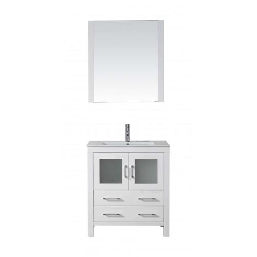 "Dior 30"" Single Bathroom Vanity Cabinet Set in White"