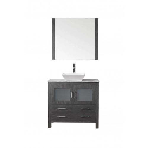 "Dior 32"" Single Bathroom Vanity Cabinet Set in Zebra Grey"