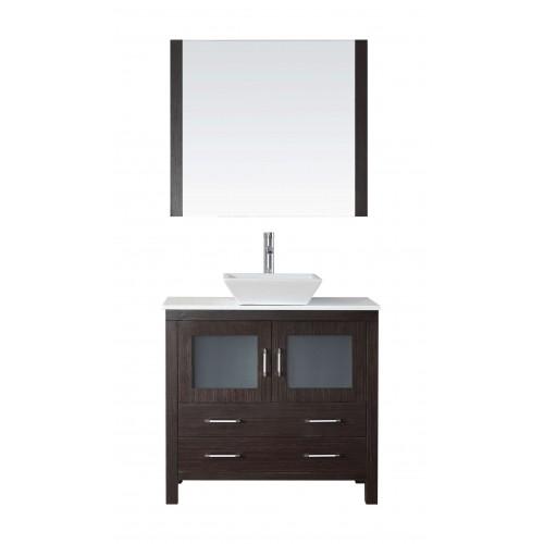 """Dior 36"""" Single Bathroom Vanity Cabinet Set in Espresso"""