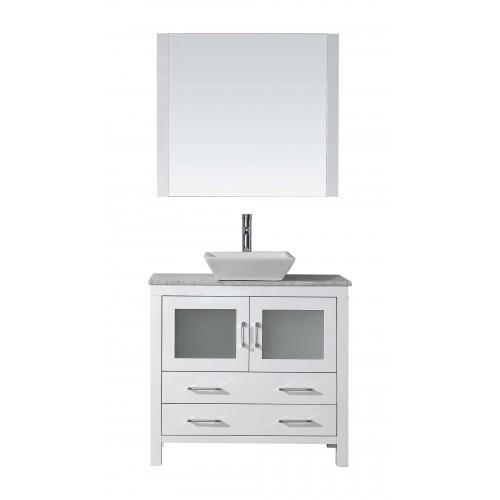 "Dior 36"" Single Bathroom Vanity Cabinet Set in White"