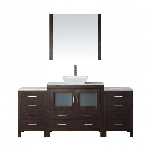 """Dior 66"""" Single Bathroom Vanity Cabinet Set in Espresso"""