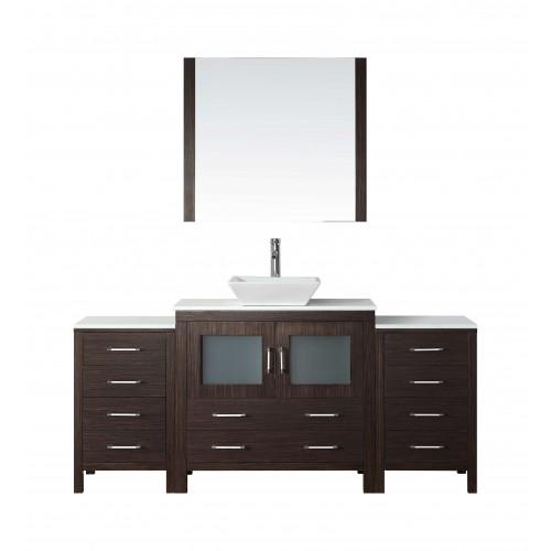 """Dior 72"""" Single Bathroom Vanity Cabinet Set in Espresso"""