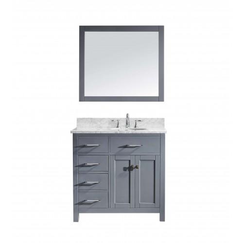 "Caroline Parkway 36"" Single Bathroom Vanity Cabinet Set in Grey"