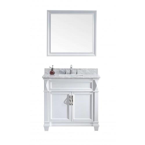"Victoria 36"" Single Bathroom Vanity Cabinet Set in White"