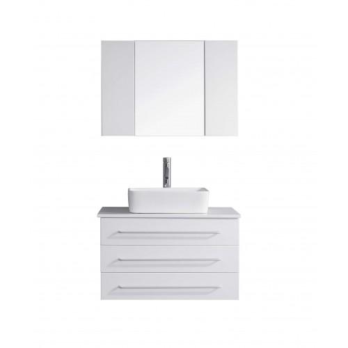 "Ivy 32"" Single Bathroom Vanity Cabinet Set in White"