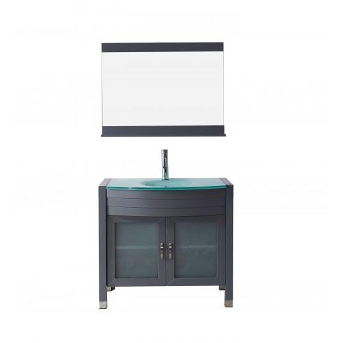 "Ava 36"" Single Bathroom Vanity Cabinet Set in Grey"
