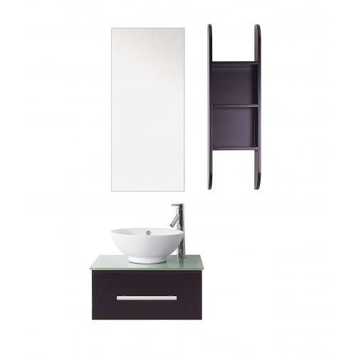 """Primo 24"""" Single Bathroom Vanity Cabinet Set in Espresso"""