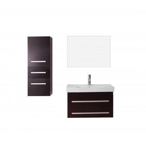 """Antonio 29"""" Single Bathroom Vanity Cabinet Set in Espresso"""