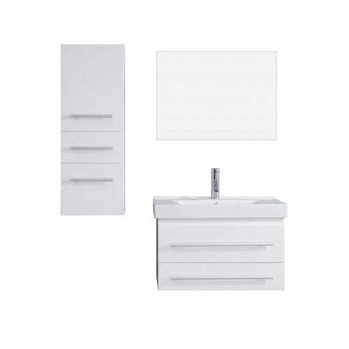 """Antonio 29"""" Single Bathroom Vanity Cabinet Set in White"""