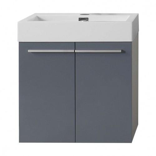 """Midori 24"""" Single Bathroom Vanity Cabinet in Grey"""