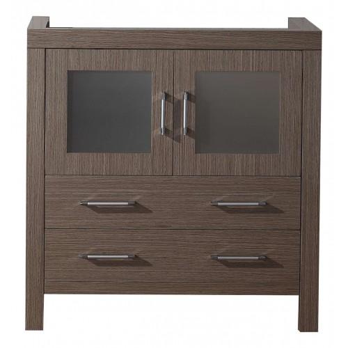 """Virtu USA Dior 32"""" Bathroom Vanity Cabinet in Dark Oak"""
