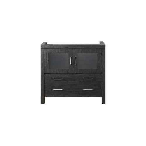 "Virtu USA Dior 32"" Bathroom Vanity Cabinet in Zebra Grey"