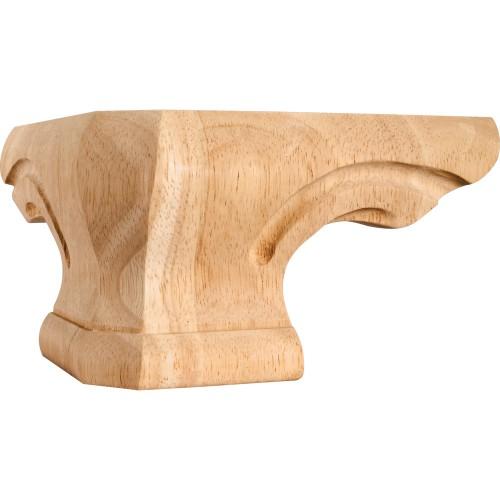"Rounded Pedestal Foot Corner 6-3/4"" x 6-3/4"" x 4"" Species: R"