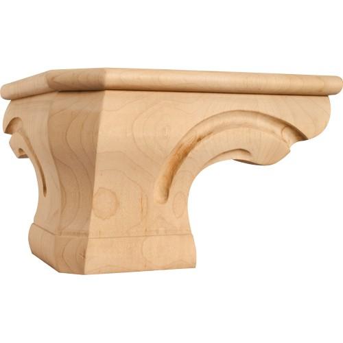 "Rounded Pedestal Foot Corner 6-3/4""*6-3/4"" x 4-1/2"" Species:"
