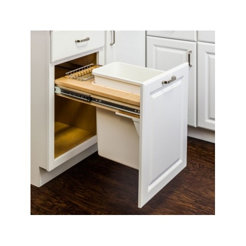 Top Mount Soft Close Single Trash Can Unit - 12""
