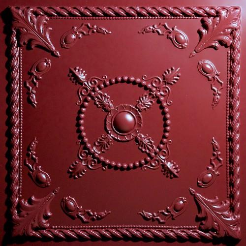 "Alexander  24"" x 24"" Merlot Ceiling Tiles"