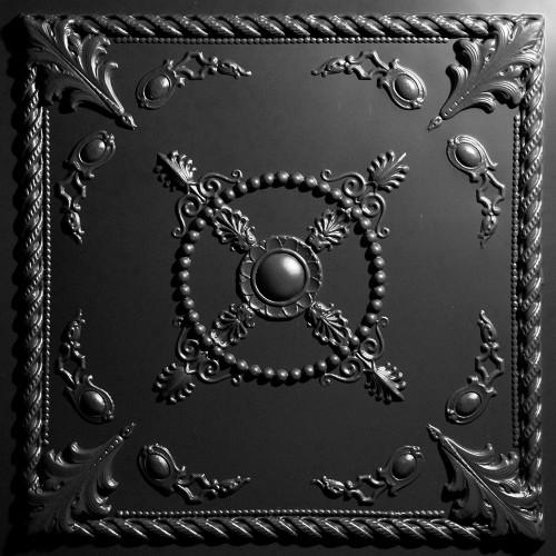 "Alexander  24"" x 24"" Black Ceiling Tiles"