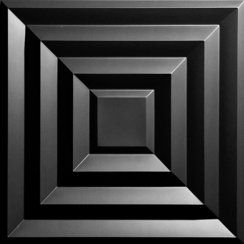"""""""Aristocrat  24"""""""" x 24"""""""" Black Ceiling Tiles"""""""