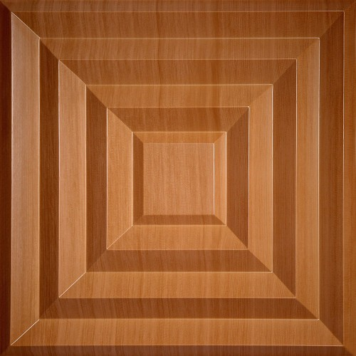 "Aristocrat  24"" x 24"" Caramel Wood Ceiling Tiles"
