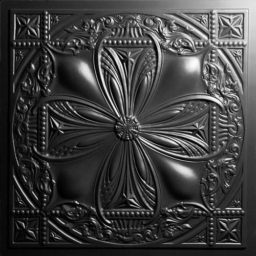 """Avalon  24"""" x 24"""" Black Ceiling Tiles"""